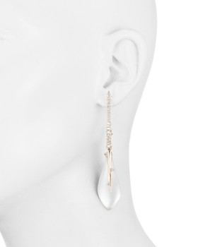 Alexis Bittar - Crystal Encrusted Hook & Teardrop Drop Earrings