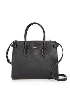 Furla - Pin Small East/West Embossed Leather Satchel