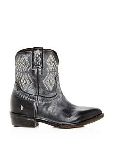 Frye - Women's Billy Distressed Leather Low-Heel Western Boots
