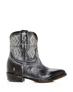 Frye - Women's Billy Distressed Leather Low-Heel Western Boots