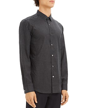 Theory - Murrary Gingham-Print Regular Fit Flannel Shirt