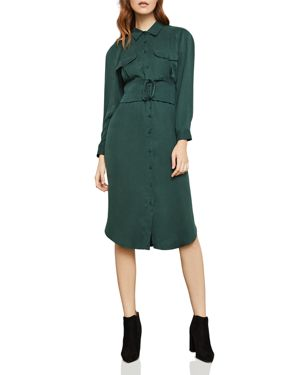 BCBGMAXAZRIA CORSET BELT SHIRT DRESS