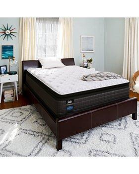 Sealy - Adams Street Cushion Firm Euro Pillowtop Mattress & Box Spring Sets - 100% Exclusive