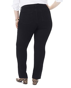 NYDJ Plus - Marilyn Straight-Leg Jeans in Black