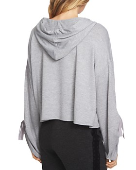 1.STATE - Cozy Hooded Crop Sweatshirt