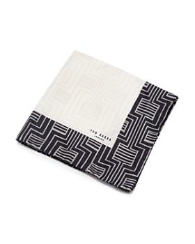 Ted Baker - Hythe Contrast Geometric-Print Silk Pocket Square