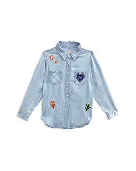 Rails - Girls' Little Carter Button Down with Mixed Patches, Little Kid, Big Kid - 100% Exclusive
