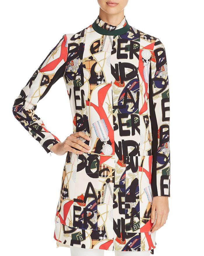 Burberry - Zoya Abstract Logo Print Dress