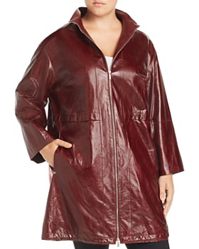 Lafayette 148 New York Plus - Minerva Leather Jacket