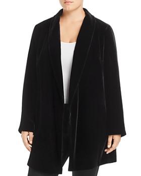 Lafayette 148 New York Plus - Cecily Long Velvet Blazer