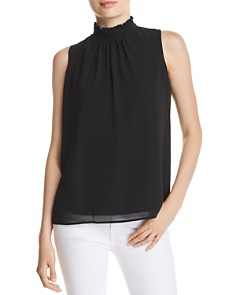 KARL LAGERFELD Paris - Lace-Inset Mock-Neck Top