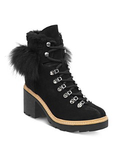 Sigerson Morrison - Women's Naia Round Toe Suede Hiker Boots
