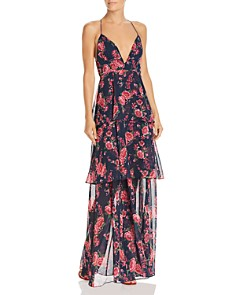 Fame and Partners - Wyatt Floral Tiered Gown