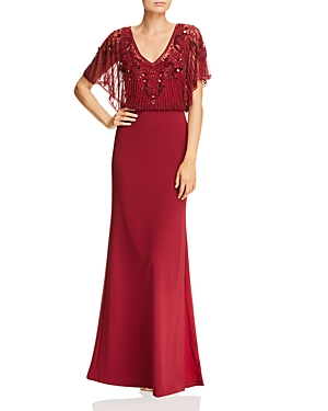 Aidan Mattox Beaded Blouson Gown