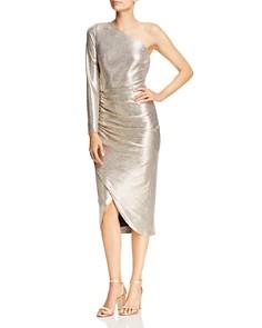 Aidan by Aidan Mattox - Foiled Jersey One-Shoulder Dress