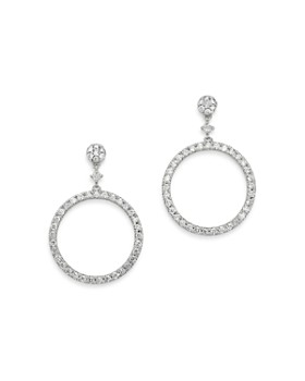 Bloomingdale's - Diamond Round Geometric Drop Earrings in 14K White Gold, 1.0 ct. t.w. - 100% Exclusive