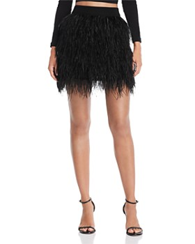 AQUA - Ostrich Feather Skirt - 100% Exclusive