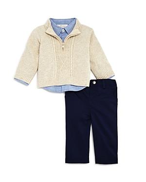 Miniclasix Boys Sweater Button Down Shirt  Pants Set  Baby