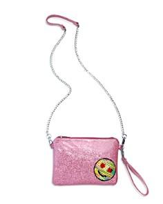GiGi Girls' Glitter & Sequin Emoji Patch Wristlet - 100% Exclusive - Bloomingdale's_0