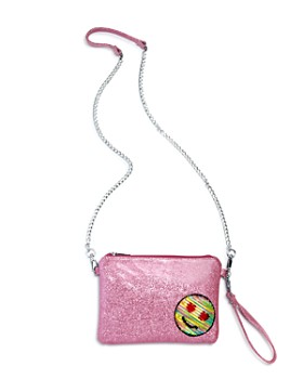 GiGi - Girls' Glitter & Sequin Emoji Patch Wristlet - 100% Exclusive