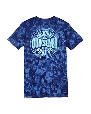 Quiksilver Boys' Rockin Rails Tie-Dye Graphic Tee - Big Kid
