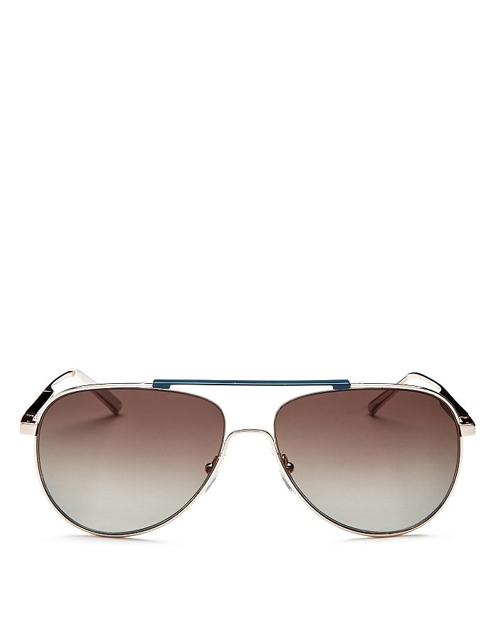 830bb0f9397ab Salvatore Ferragamo - Men s Brow Bar Aviator Sunglasses