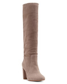 VINCE CAMUTO - Women's Sessily Round Toe Slouchy High-Heel Boots - 100% Exclusive