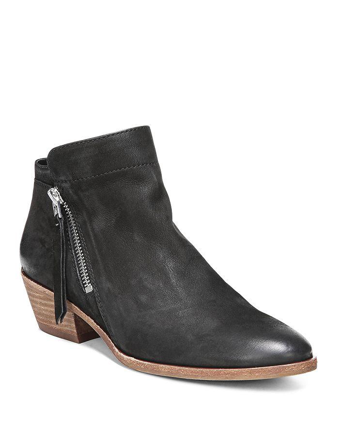 Sam Edelman - Women's Packer Almond Toe Leather Low Heel Booties