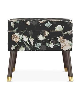 Sparrow & Wren - Quincy Floral Print Square Ottoman - 100% Exclusive