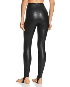 Commando - Faux Leather Stirrup Leggings - 100% Exclusive
