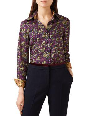 Hobbs London Celia Floral Print Shirt - 100% Exclusive