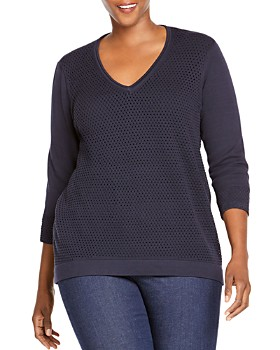 Foxcroft Plus - Presley Mixed Knit Sweater