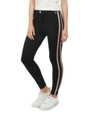 Heiydi Side-Stripe Pants, Black
