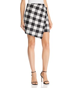MILLY - Plaid Wrap Skirt