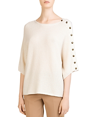 28d83402d Gerard Darel Cayla Waffle-Knit Dolman-Sleeve Sweater