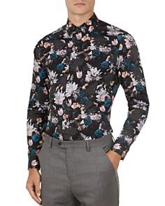 Ted Baker - Rhubarb Floral Geometric Print Button-Down Shirt