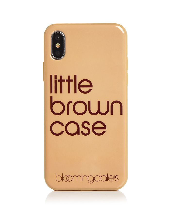 Bloomingdale's - Little Brown iPhone X Case