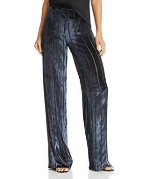 Michelle Mason - Striped Velvet Pants