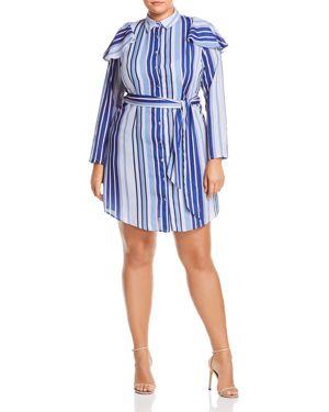 Lost Ink Plus Striped Shirt Dress