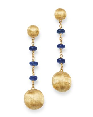 18 K Yellow Gold Africa Precious Sapphire Drop Earrings by Marco Bicego