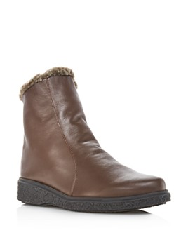 Arche - Women's Joelys Leather & Faux-Fur Boots