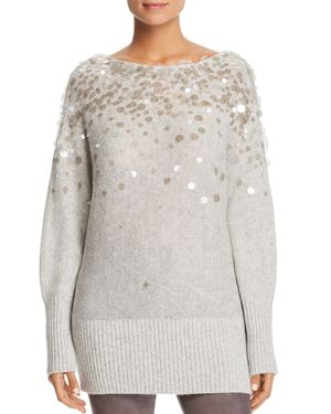 Lafayette 148 New York Embellished Dolman Sweater