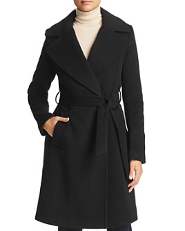 Calvin Klein - Notched Collar Wrap Coat