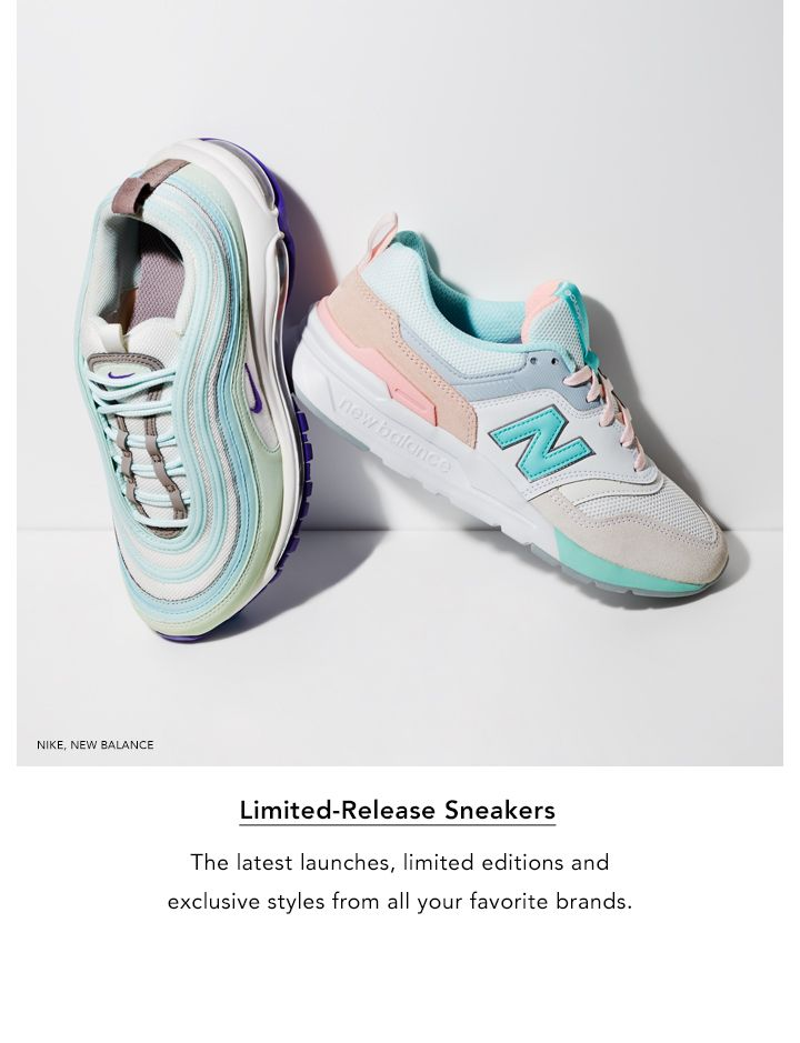 Limited Release Sneakers. The latest launches, limited editions and exclusive styles from all your favorite brands.