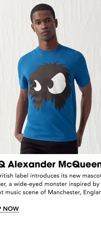 76d7f46cc3 Names to Know. McQ Alexander McQueen. The British label introduces its new  mascot,