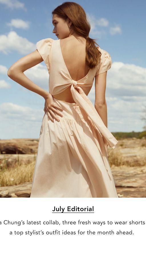 1997cacda2c3e5 The Wedding Shop. July Editorial. Alexa Chung's latest collab, three fresh  ways to wear shorts, and
