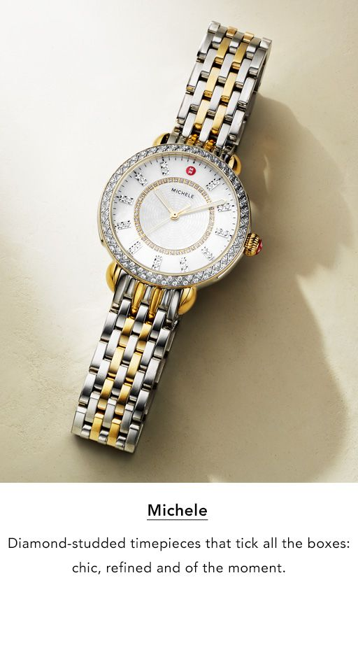 c6a29ea1e3f3 Michele. Diamond-studded timepieces that tick all the boxes. Chic, refined,