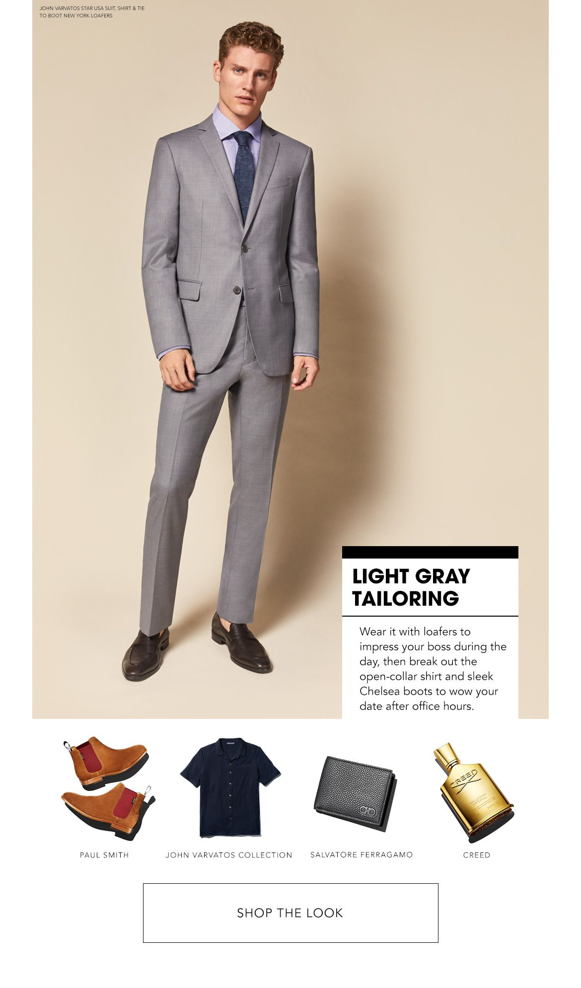 Styled for Light Gray Tailoring