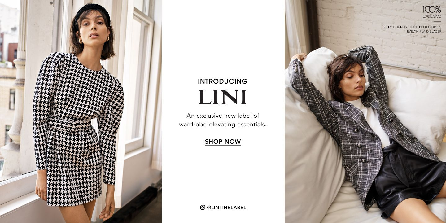 Introducing Lini, an exclusive new label of wardrobe-elevating essentials.