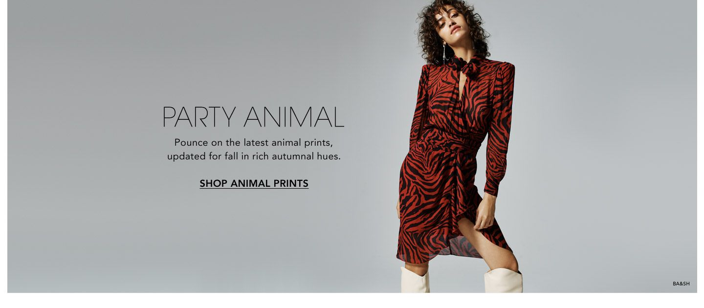 Party Animal. Pounce on the latest animal prints, updated for fall in rich autumnal hues.